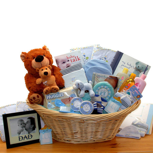 Deluxe Welcome Home Precious Baby Basket-Blue| Baby Gift Baskets