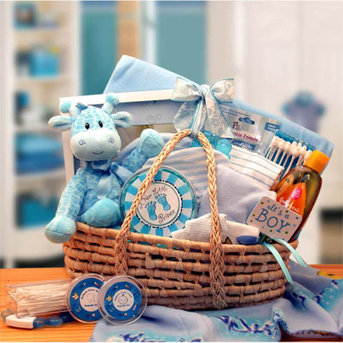 Our Precious New Baby Boy Blue Carrier | Baby Gift Baskets