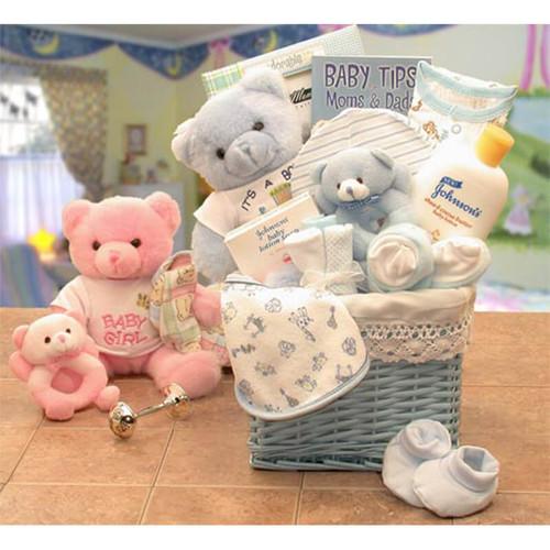My Sweet Newborn Baby Boy of Mine Blue Baby Basket | Baby Gift Baskets