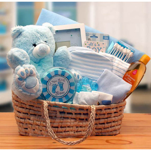 Our Precious Little Boy Blue Baby Carrier | Baby Gift Baskets