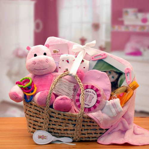 Our Precious Little Girl Pink Baby Carrier   Baby Gift Baskets