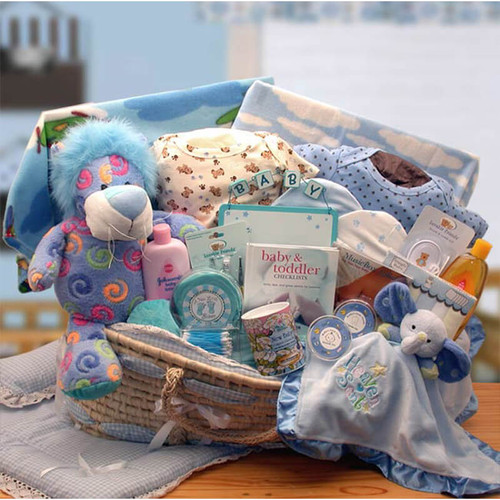 Precious Petals Baby Boy Deluxe Moses Carrier | Baby Gift Baskets