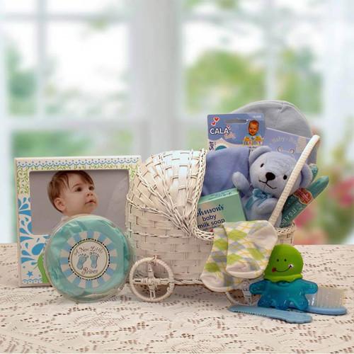 Our little Bundle of Joy New Baby Boy Basket | Baby Gift Baskets