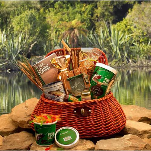 The Fisherman's Fishing Creel Gift Basket | Gift Baskets For Men