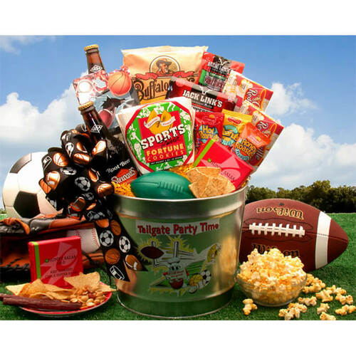 Tailgate Party Time Gift Pail | Football Gift Baskets