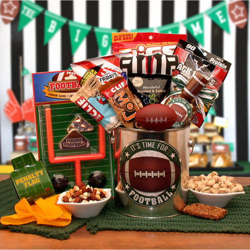 It's Football Time Gift Pail | Football Gift Baskets