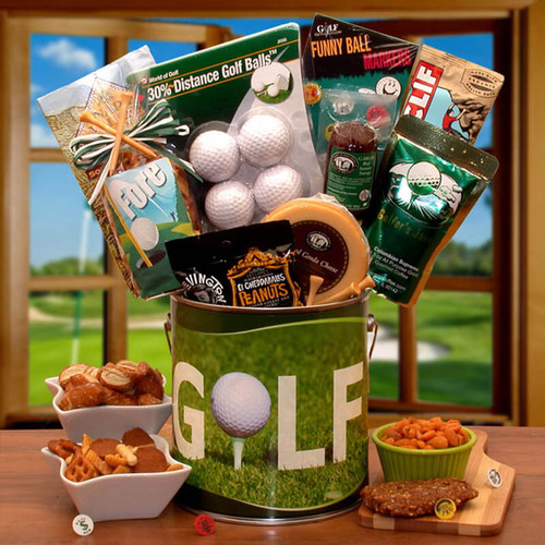 Fore! Golfers Gift Pail | Golf Gift Baskets