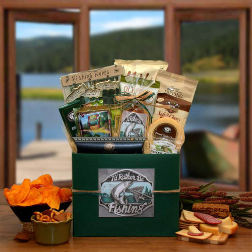 I'd rather Be Fishing Gift Box | Gift Baskets For Men