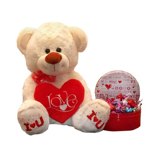 Kiss Me My Love Valentine Teddy Bear Gift Set | Valentine's Day Gift Baskets