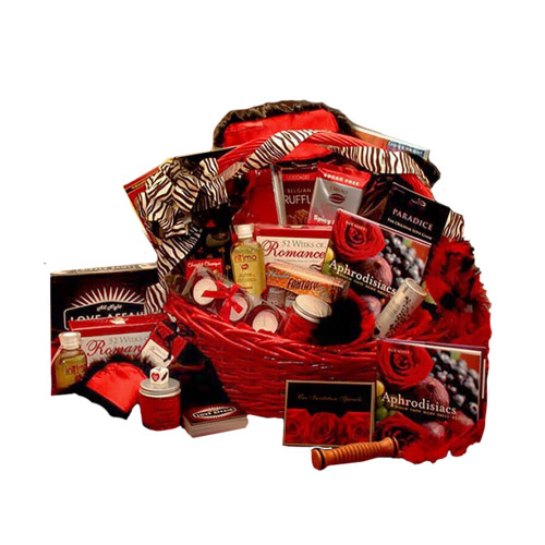 Naughty Nights Couples Romantic Gift Basket| Valentine's Day Gift Baskets