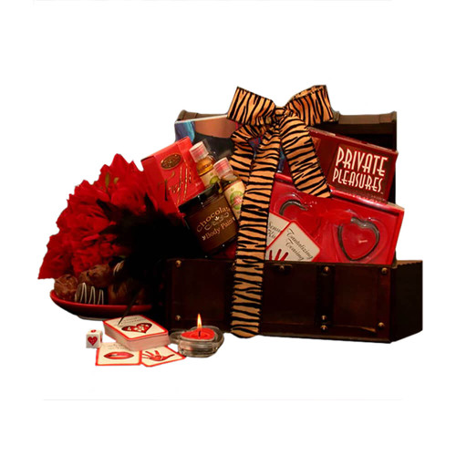 Private Pleasures Gift Chest| Valentine's Day Gift Baskets