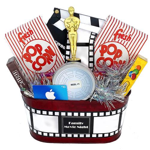 Family Movie Night Gift Basket | Movie Gift Basket