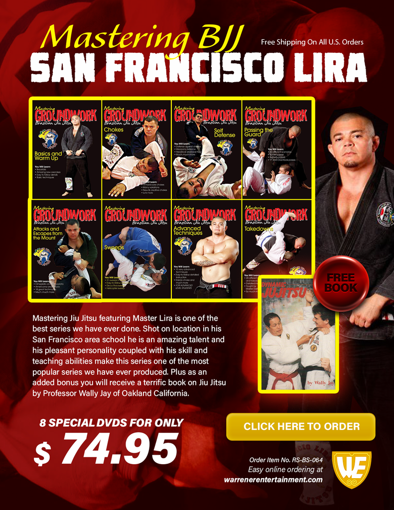 Mastering BJJ San Francisco Lira - Special Box Set ( 8 DVDs + 1 Free Book )