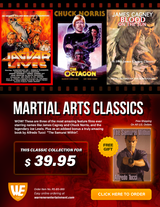 Martial Arts Classics - Christopher Lee, Chuck Norris & James Cagney - Special Box Set ( 3 DVDs + Free Book )