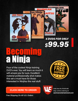 Becoming a Ninja Box Set ( 4 DVDs )