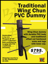 Traditional Wing Chun PVC Dummy