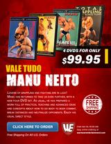 Vale Tudo: Manu Neito  Box Set ( 4 DVDs )