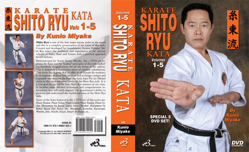 Karate Shito Ryu Kata  DVD Set Vol-1-5