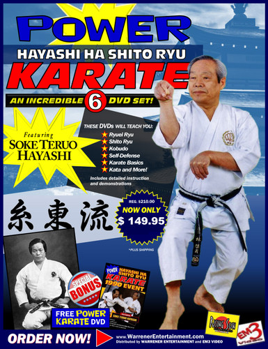 Power Karate Hayashi Ha Shito Ryu Box Set ( 6 DVDs plus Free DVD )