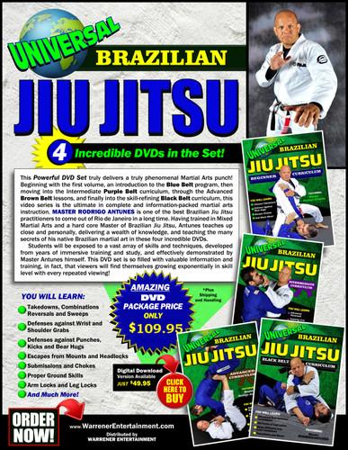 Universal Brazilian Jiu Jitsu Box Set ( 4 DVDs )