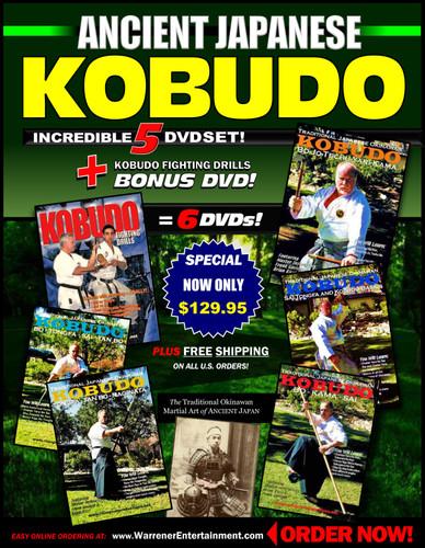 Ancient Japanese Kobudo Box Set ( 5 DVDs + Free DVD )