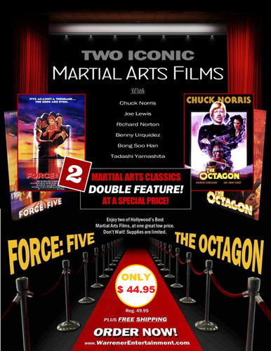 Two Iconic Films OCTAGON and FORCE FIVE