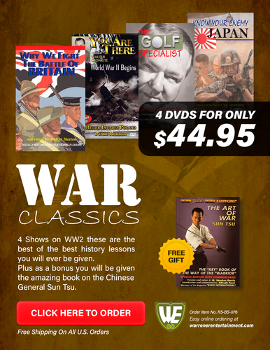 War Classics Special Box Set ( 4 DVDs + Free Book The Art of the War )
