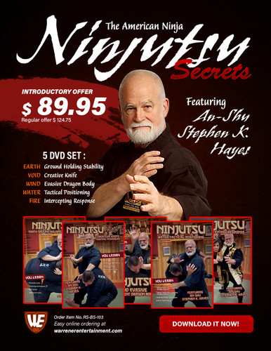 Ninjitsu Secrets Empty Hand Stephen Hayes Box Set ( 5 DVDs ) - Download