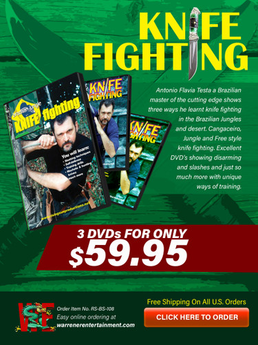 Knife Fighting Testa Box Set ( 3 DVDs )