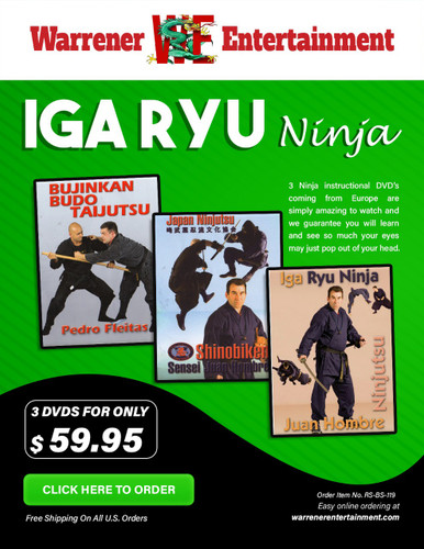 Iga Ryu Ninja Box Set ( 3 DVDs )