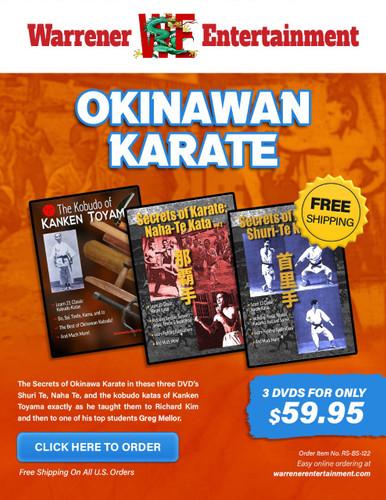 The Secrets of Okinawan Karate Box Set ( 3 DVDs )