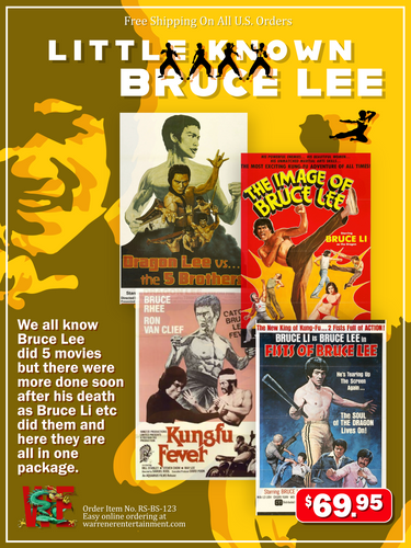 Little Known Bruce Lee 4 DVD set