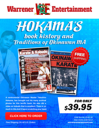 Hokama's book history and traditions in Okinawan Martial Arts Box Set ( 1 Book + 1 DVD )