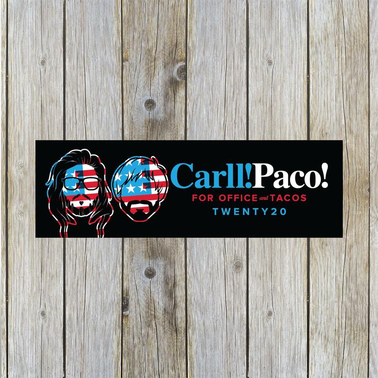Carll! Paco! 2020 Bumper Sticker