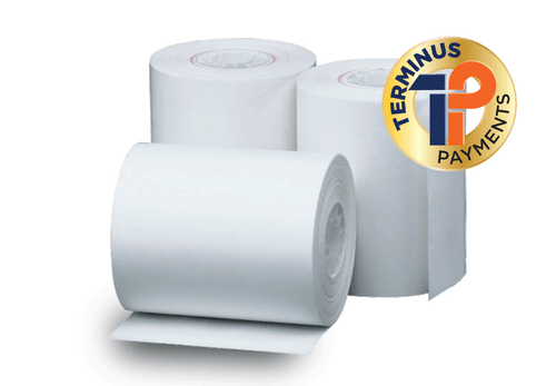 """POS Merchandise 3 1/8"""" X 870' Heavyweight Thermal ATM Paper (50 Rolls)"""