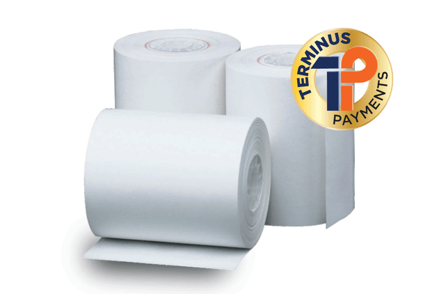 "2 ¼"" (58MM) x 85′ (2"" diameter) Thermal Roll Paper, 7/16″ core, CSO, 50 rolls/case"