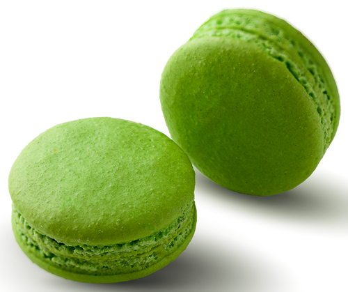 Matcha Green Tea Macaron Online - Matcha infused white chocolate ganache in a hand made gluten free macaron shell
