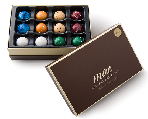 12 Holiday Gourmet Chocolate Bonbons