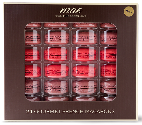 24 Berry Collection Macarons | Buy Online Gluten Free