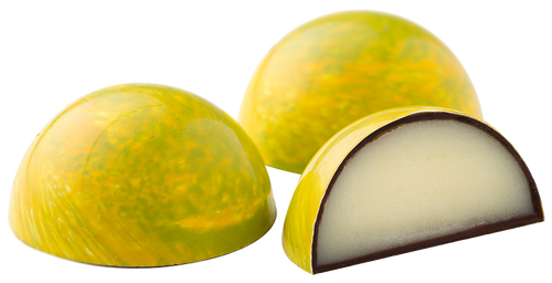 key lime infused white chocolate ganache, encased in a dark chocolate shell.