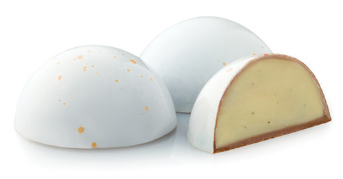 AMARETTO DREAM HOLIDAY BONBON Amaretto infused white chocolate ganache, encased in a milk chocolate shell
