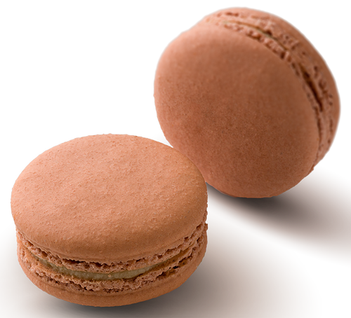 Tamarind and Mango Macaron - Tamarind and mango infused white chocolate in a handmade gluten free macaron shell