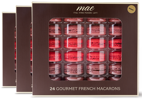 72 WHOLESALE MACARONS BERRY COLLECTION