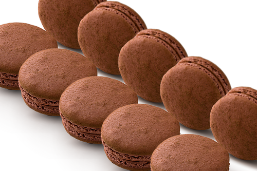 72 WHOLESALE MILK CHOCOLATE MACARONS