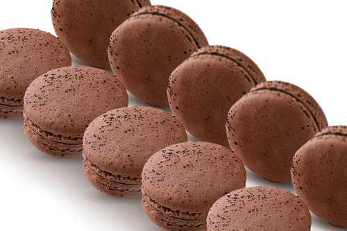 72 WHOLESALE MACARONS ESPRESSO BEAN