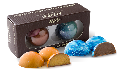 2 Holiday Gourmet Chocolate Bonbons