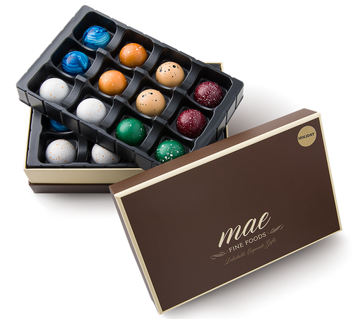 24 Holiday Gourmet Chocolate Bonbons