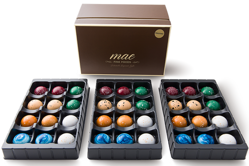 36 Holiday Gourmet Chocolate Bonbons