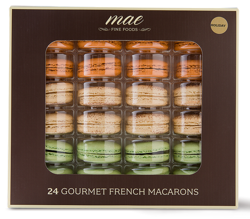 24 Holiday French Macarons