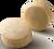 VANILLA BEAN MACARON -Vanilla Bean infused white chocolate Ganache in a hand made macaron shell